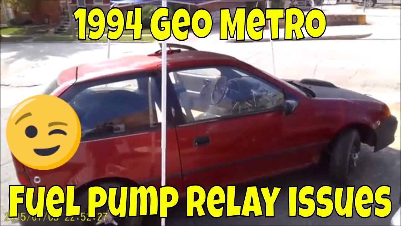 medium resolution of 1994 geo metro fuel pump relay issue