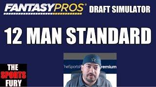 Fantasy Football Mock Draft 2017 12 man Standard Free HD Video