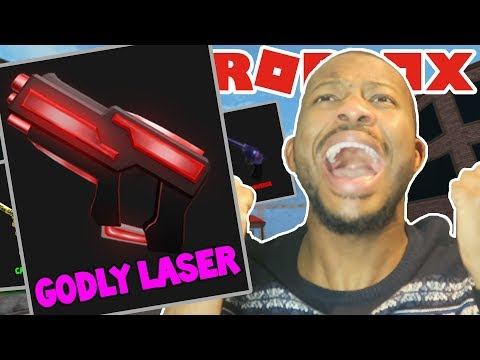 OMG! GODLY LASER GUN UNBOXING!! (Roblox Murder Mystery 2)