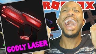 OMG! GODLY LASER GUN UNBOXING!! (Roblox Murder Mystery 2)