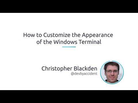 Terminal font windows