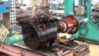 電車のモーター組み立て実演 JRおおみや鉄道ふれあいフェア2012
