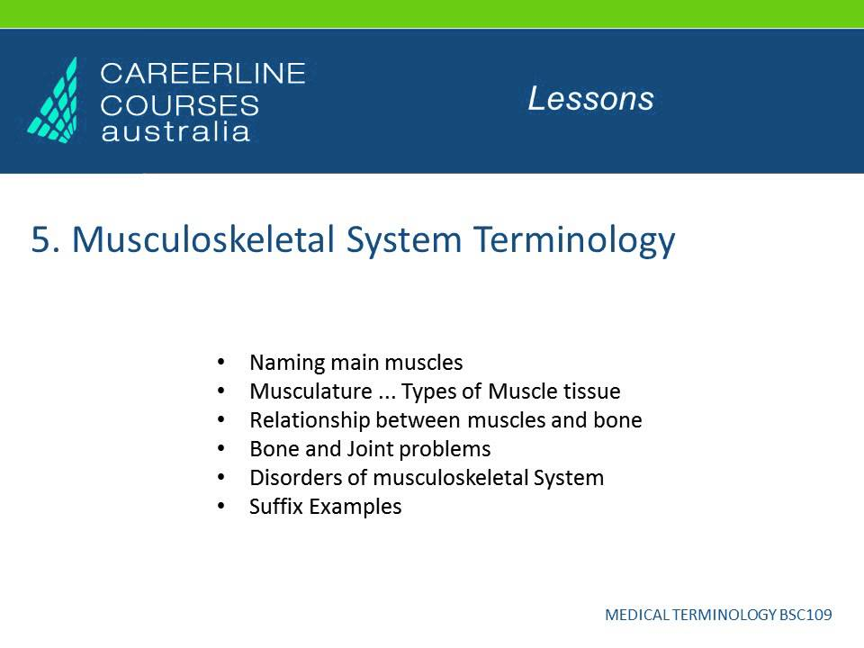 medical terminology course online -