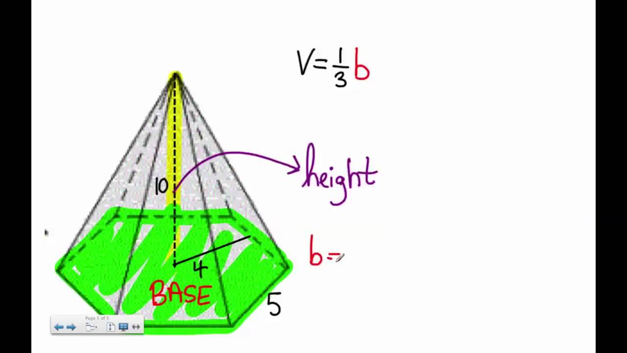 polygon pyramid hexagon pentagon volume problem youtube