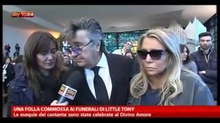 Little Tony ; Una folla commossa ai funerali di Little Tony (Divino Amore Roma )30/05/2013