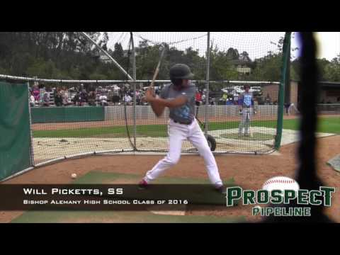 Will Picketts Prospect Video, SS, Bishop Alemany High School Class of 2016