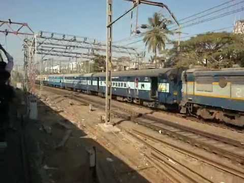 Gujarat Express moves at a gradual speed