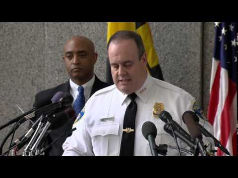 Baltimore, MD Police Department holds a press conference about the death of Freddie Gray (RAW + Q&A)