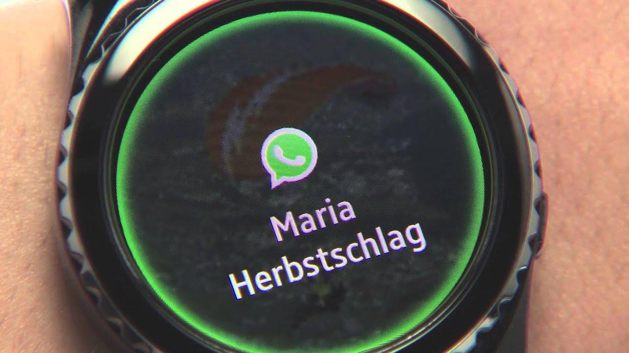 Samsung Gear S2: Chatten mit WhatsApp