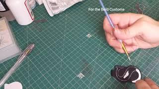 How I make a custom key ring HAND MADE LEATHER KEY RING
