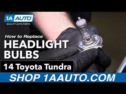 How to Replace Headlight Bulbs14-19 Toyota Tundra