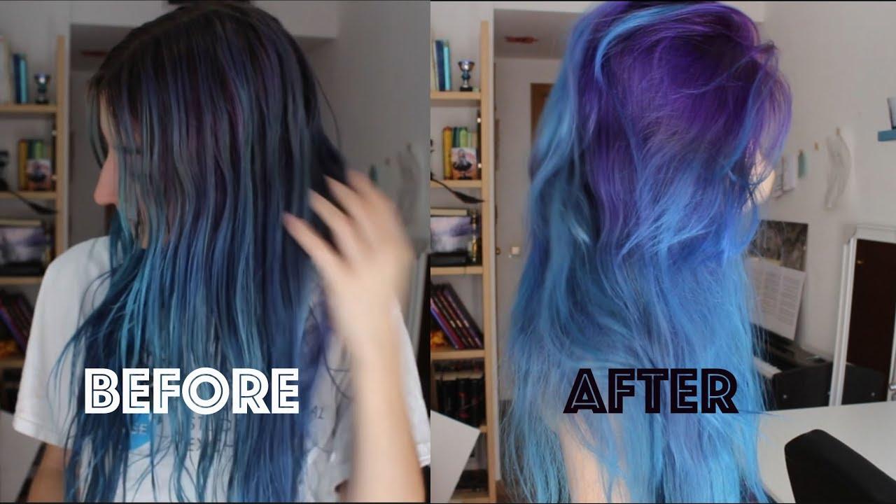 Colores de pelo en morado