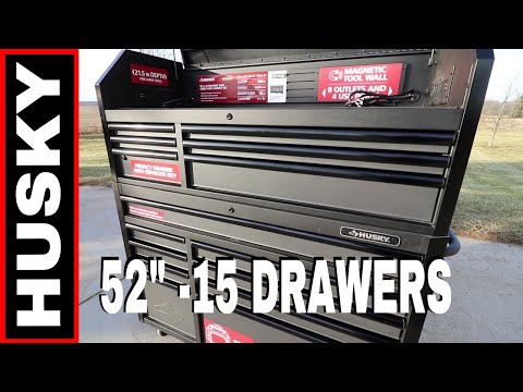 """husky-52""""-tool-chest-&-cabinet---soft-close-drawer-slides!-model-#h52ch6tr9hd"""