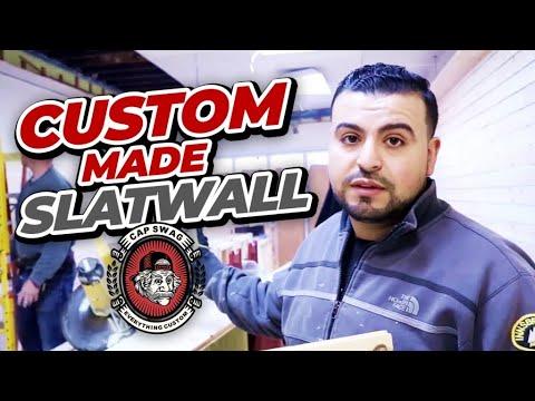 Custom made Slatwall Wood Boards With Metal Insert   DIY  Slat Wall Board