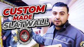 Custom made Slatwall Wood Boards With Metal Insert | DIY  Slat Wall Board