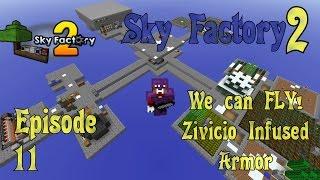Sky Factory 2 - Zivicio Infused Armor - Ep 11 - Minecraft