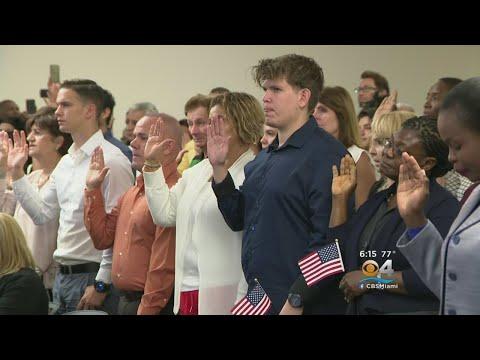 Nearly 150 Take Citizenship Oath In Hialeah