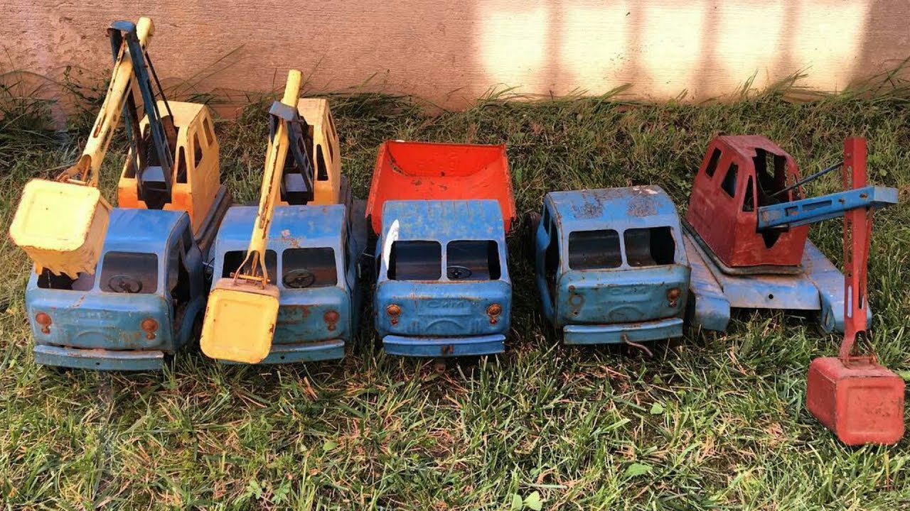 Советские игрушки, модели грузовиков - YouTube