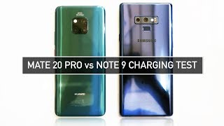 Huawei Mate 20 Pro vs Samsung Note 9 CHARGING TEST Time & Speed | Zeibiz