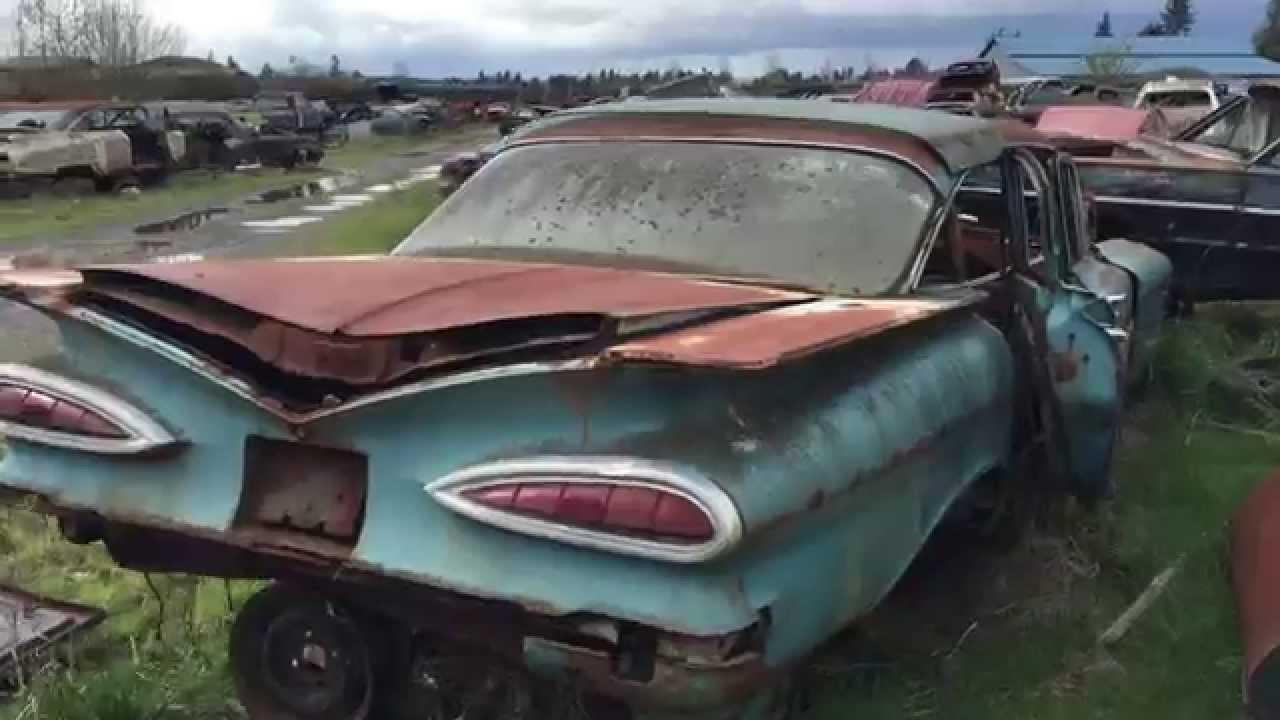 1959 impala junkyard find doovi. Black Bedroom Furniture Sets. Home Design Ideas