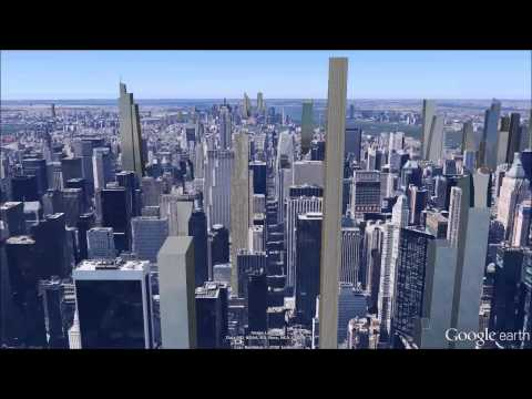Future Manhattan Skyline from Above in Google Earth - CityRealty Homepage