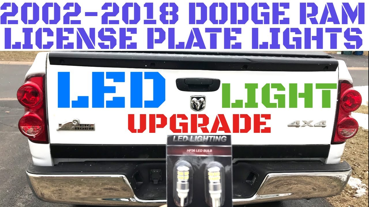 2002 2018 Dodge Ram License Plate Light Replacement Installation Tag Wiring Diagram Video