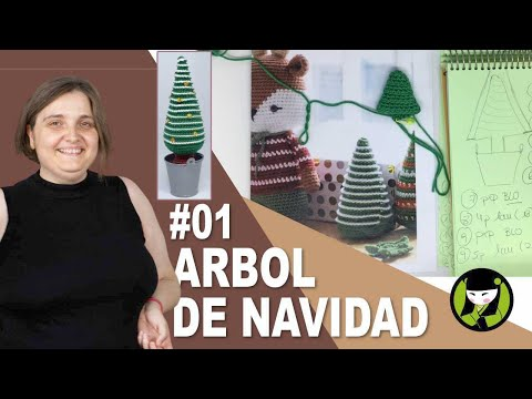 ARBOL DE NAVIDAD AMIGURUMI 01 inicio pino navideño tejido a crochet