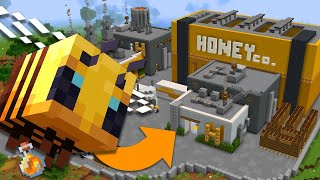 I Built a Bee Factory in Minecraft