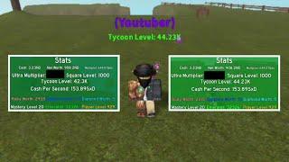 ROBLOX • Spending 294.8Kx Ultra Multiplier! - Tycoon Simulator