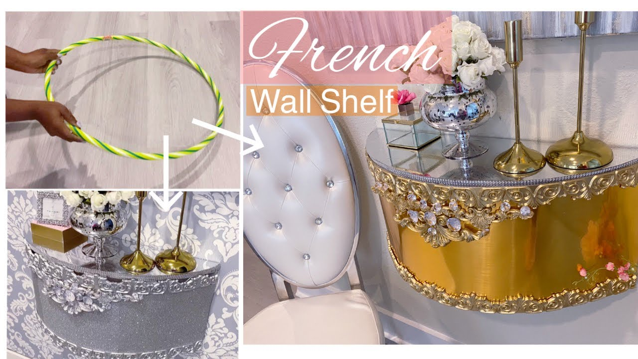 HOW TO TURN HOOPS INTO FRENCH SHELVES! GOLD AND SILVER SHELVES WITH HOOPS!