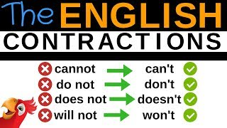 100 ENGLISH CONTRACTIONS ||| Speak Better English ||| Cannot, Can't, Do not, Don't,...