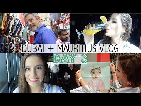 Dubai + Mauritius Vlog Day 3: Dubai Hotels + Indian Shopping + Room Tour [ENGLISH SUBTITLES]