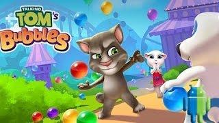 Говорящий Том: бабл-шутер (Talking Tom Bubble Shooter) на Android/iOS GamePlay