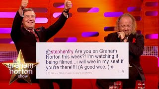 Stephen Fry & Bill Bailey Hilariously Read The Audience Members Tweets | The Graham Norton Show