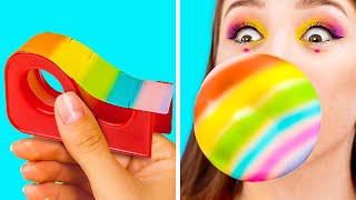 HOW TO SNEAK FOOD IN CLASS? || Funny Back To School Hacks by 123 GO! GOLD