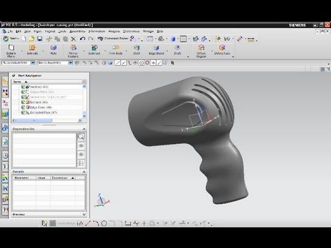 12.1 Hairdryer casing - Siemens NX 8.5 Training - Sweep swep