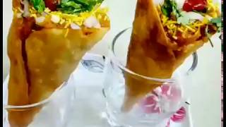 Pav bhaji cone chaat recipe - CooK with KHUSHBoo
