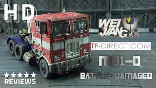 Wei Jiang M01-D Battle Damaged Commander Optimus Prime Transformers Age of Extinction Evasion Mode