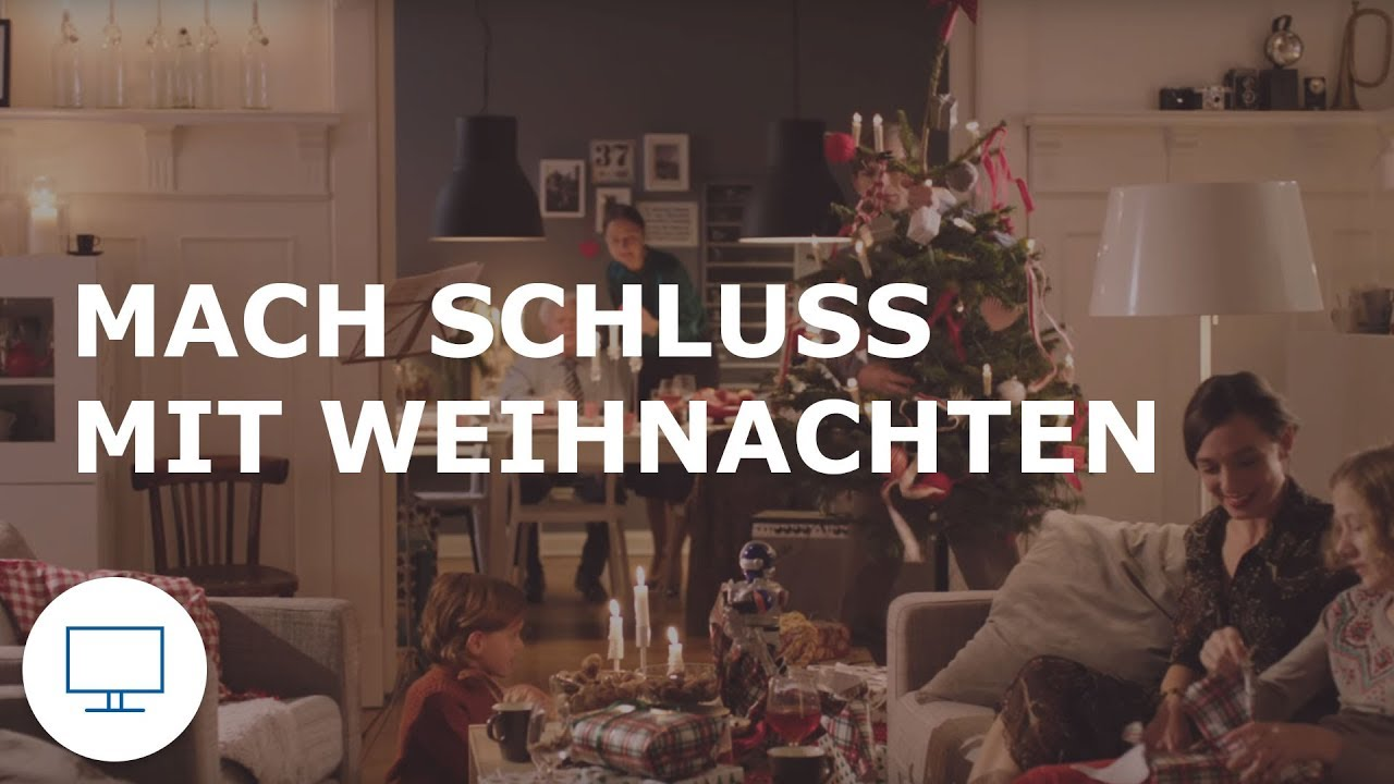 ikea werbung tv spot mach schluss mit weihnachten youtube. Black Bedroom Furniture Sets. Home Design Ideas
