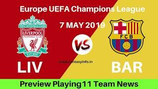 Liverpool vs barcelona football playoff ...