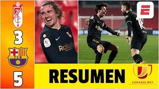 Granada 3-5 Barcelona. ¡INFARTANTE remontada! DOBLETES de Griezmann y Jordi Alba. | Copa del Rey