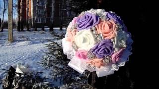 Свадебный букет невесты.Брошь-букет.