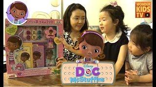 꼬마의사 맥스터핀스 장난감 선물 세트, Doc McStuffins toys. Doc McStuffins story