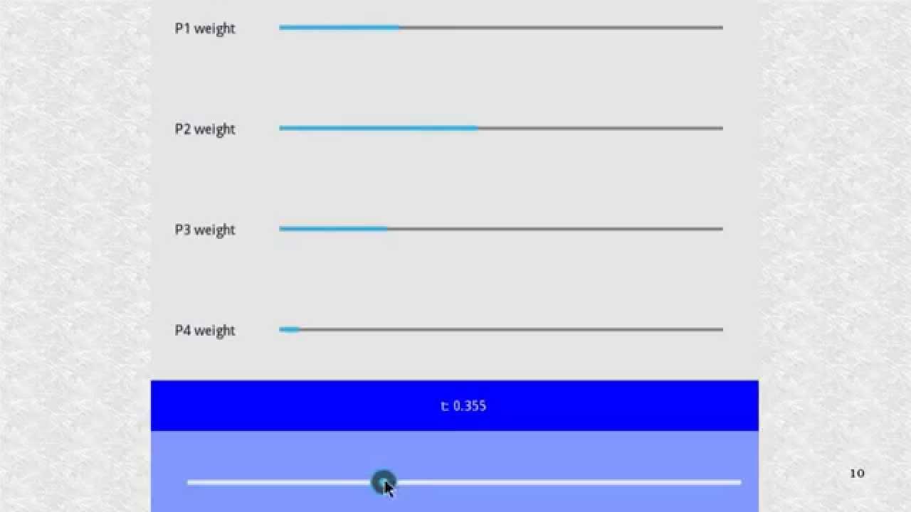 Kivy 18  Kivy App - Bezier Weights