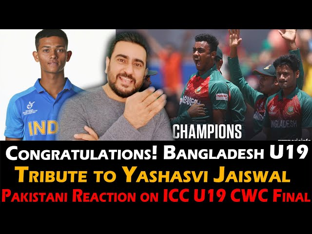 Congratulations! Bangladesh, India U19 vs Bangladesh U19 Final | Tribute to Yashasvi Jaiswal