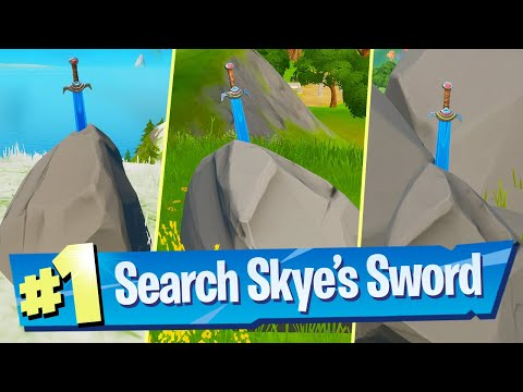 Search Skye's Sword In A Stone Found In High Places Location - Fortnite Battle Royale