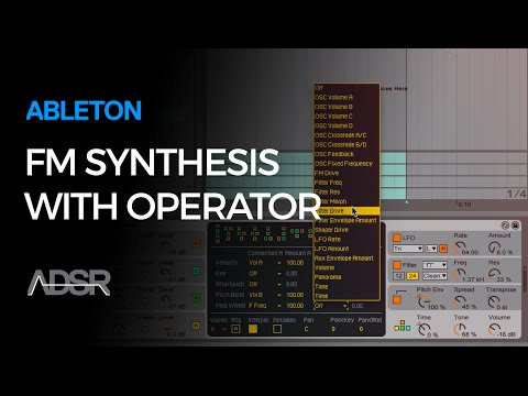 FM synthesis with Ableton Operator