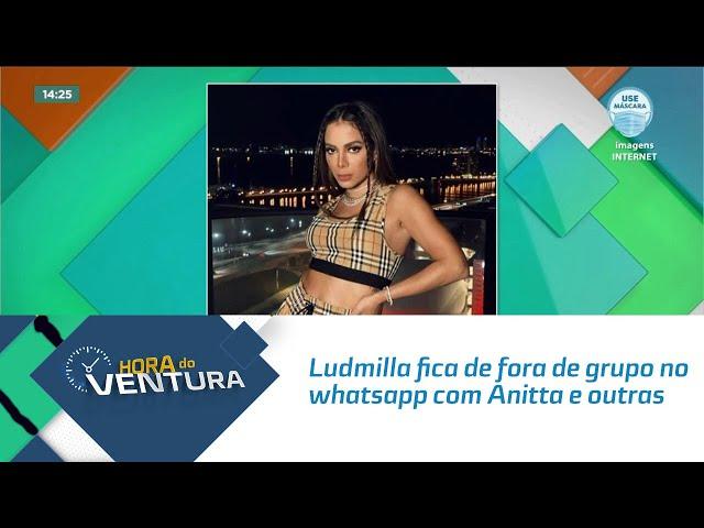 'As Patroas': Ludmilla fica de fora de grupo no whatsapp com Anitta e outras cantoras