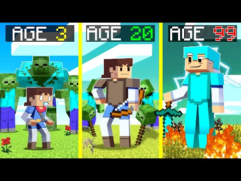 Surviving 99 YEARS In A ZOMBIE APOCALYPSE In Minecraft ...