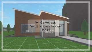 Roblox | Bloxburg | No Gamepass: pequena casa moderna (55k)